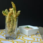 Gluten free appetizer, gluten free fried green beans