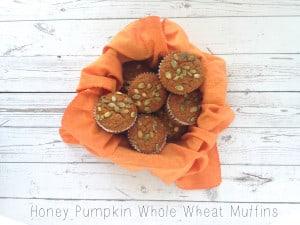 Honey Pumpkin Whole Wheat Muffins
