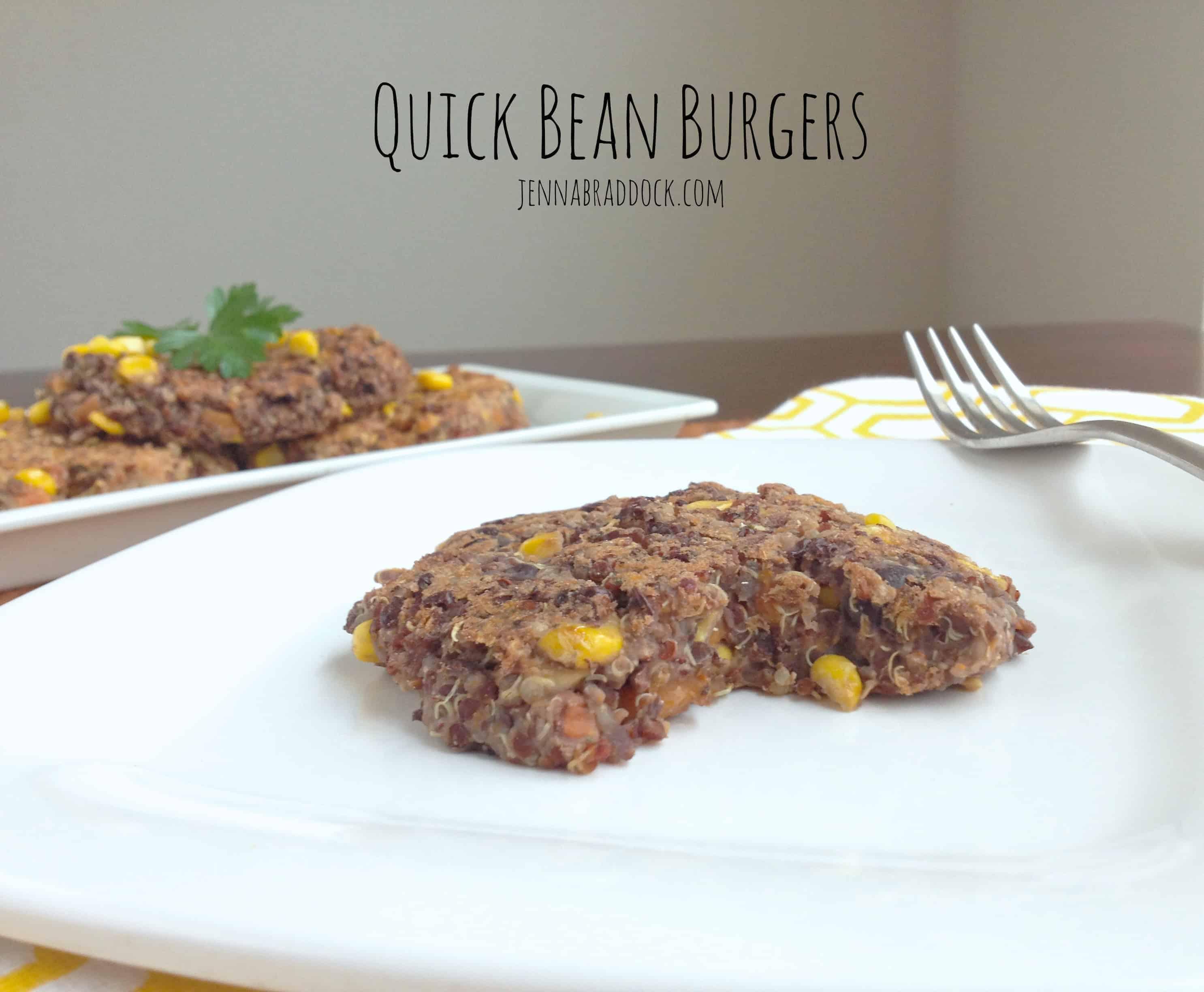 Quick Bean Burger