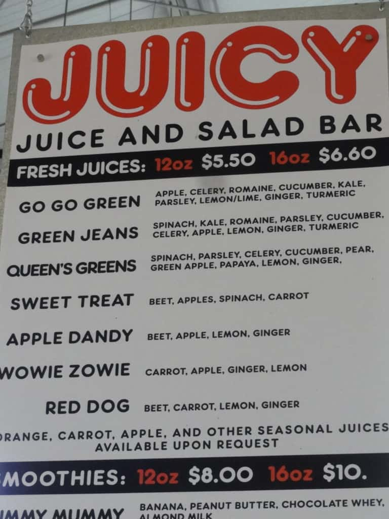 Oxbow Market Juice Bar