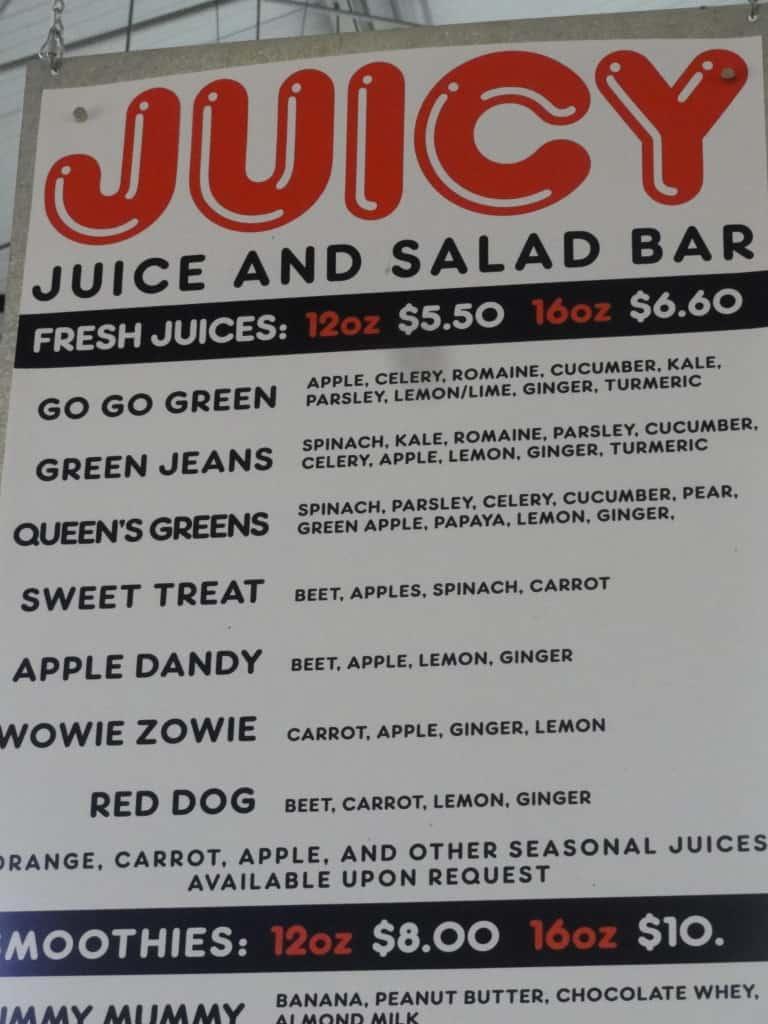 Oxbow Market Juice Bar