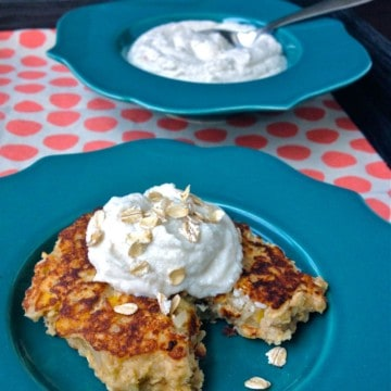 These filling, protein-rich griddle cakes combine whole grains, dairy and fruit in one, delicious breakfast.
