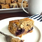 Blueberry Banana Mascarpone Coffee Cake