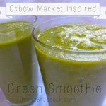 A vibrant green smoothie inspired by the Oxbow Market in Napa California.