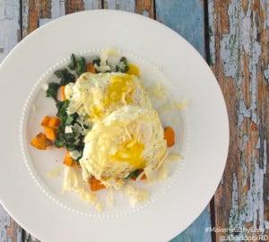 Gluten Free Sweet Potato, Egg, & Kale Stacks