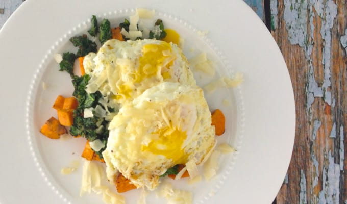 Gluten Free Sweet Potato, Egg, & Kale Stacks