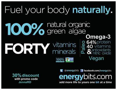 Energybits #spirulina #algae review by #MakeHealthyEasy | @JBraddockRD