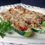 Cheddar & Quinoa Stuffed Zucchini Recipe