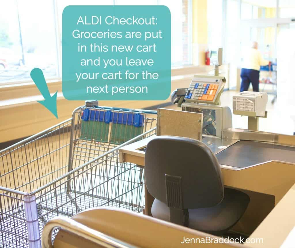 Curious about ALDI grocery stores? There's a few things you need to know before you make your first money-saving trip. Start here with your must-read guide on how to shop at ALDI. #MakeHealthyEasy via @JBraddockRD https://jennabraddock.com #Sponsored