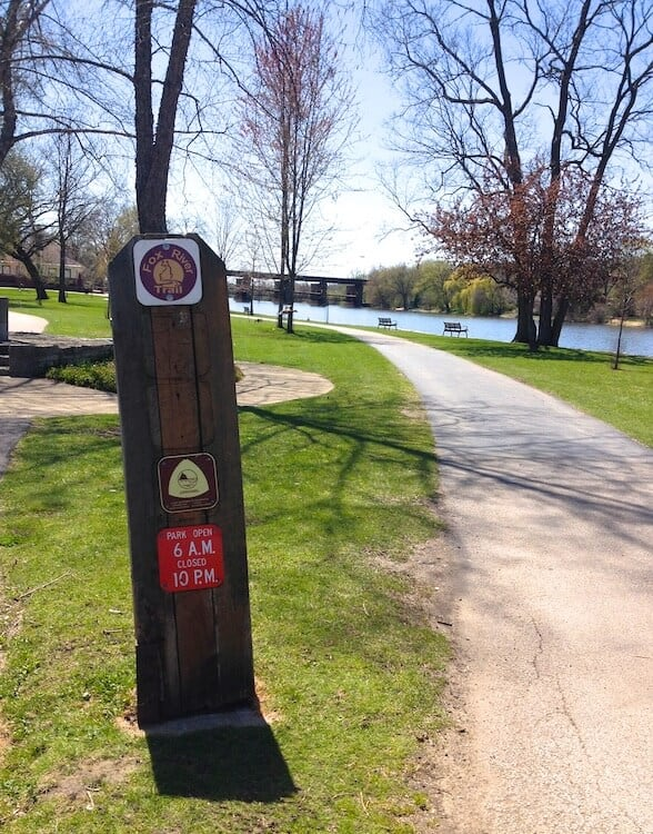 Fox River Trail -- perfect for runners in Geneva IL