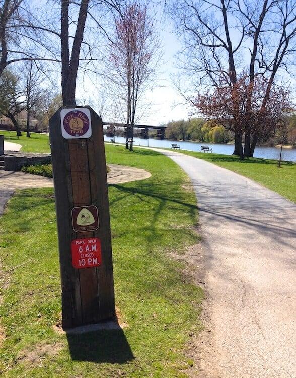 Fox River Trail -- perfect for runners in Geneva IL
