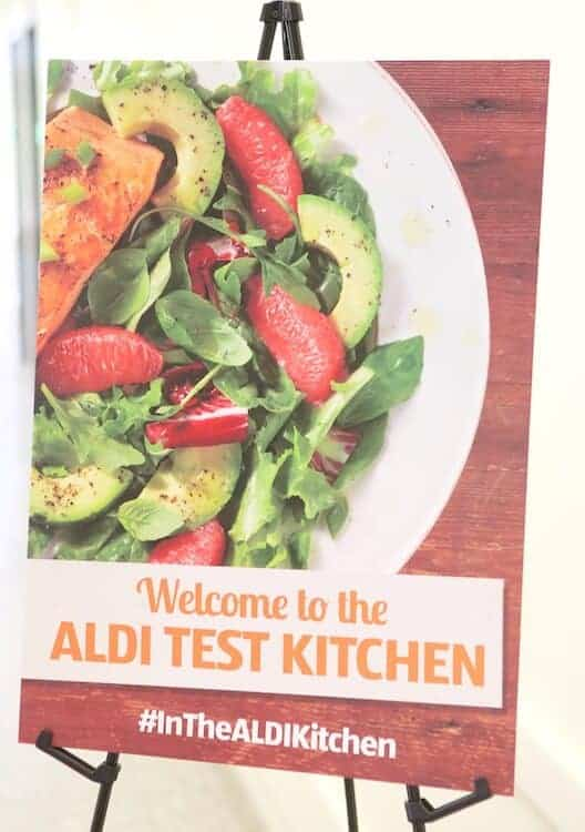 Bloggers visit the ALDI test kitchen to learn about the ALDI way to save and eat healthy. via @JBraddockRD | #MakeHealthyEasy http://jennabraddock.com