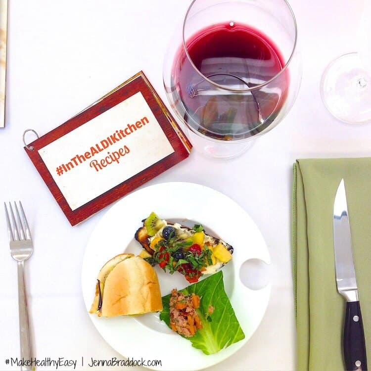 ALDI test kitchen blogging event. #MakeHealthyEasy via @JBraddockRD  http://jennabraddock.com