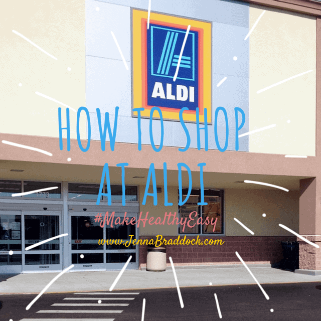 Curious about ALDI grocery stores? There's a few things you need to know before you make your first money-saving trip. Start here with your must-read guide on how to shop at ALDI. #MakeHealthyEasy via @Jbraddockrd https://jennabraddock.com
