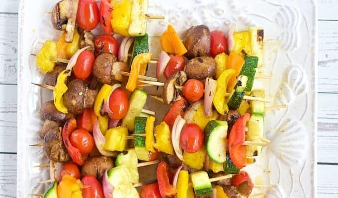 Grilled Fruit & Vegetable Kabobs