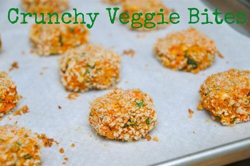 These vegetarian Crunchy Veggie Bites are packed with veggies but have a friendly flavor toddlers will love. There a good source of protein too. #MakeHealthyEasy via @JBraddockRD http://jennabraddock.com