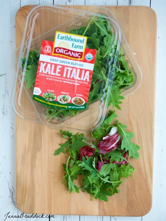 Kale Italia Summer Salad & Easy Party Menu -- Here's an easy men for a healthy and delicious summer party featuring a recipe for a Kale Italia Salad that is anything but boring! Featuring @earthboundfarms via @JBraddockRD #MakeHealthyEasy https://jennabraddock.com #sponsored