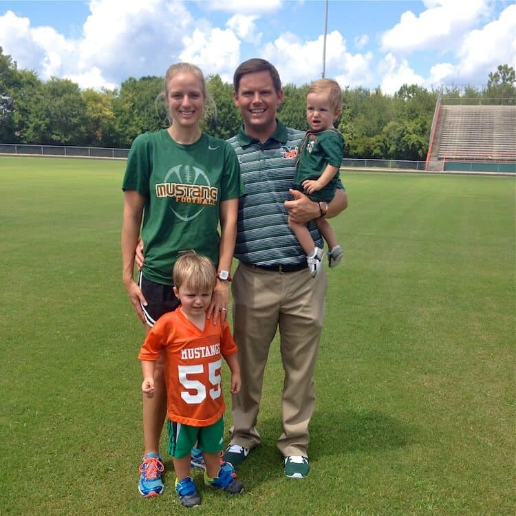 Being married to football is an awesome life. It's hard, fun and exciting. Here'a little glimpse in to my life as a coach's wife. #MakeHealthyEasy via @JBraddockRD