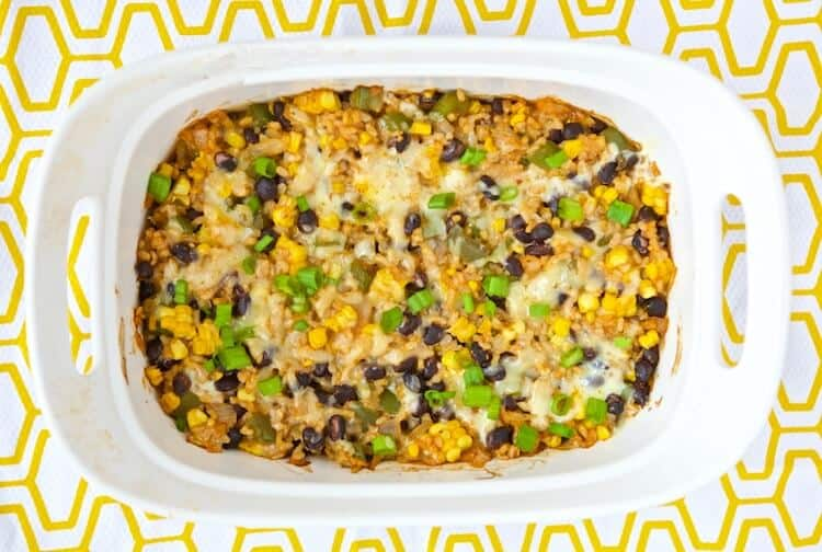 This Vegetarian Rice Bean Casserole Is An Easy And Healthy Solution For Getting Dinner On