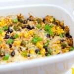Vegetarian Rice & Bean Casserole