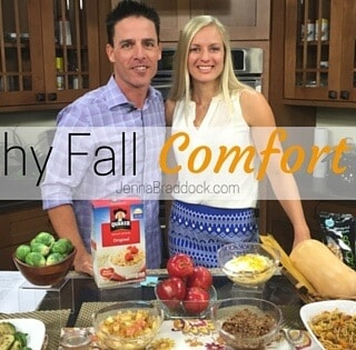 Healthy Fall comfort food -- With the change of the seasons we all crave comfort food and it's all too easy to find indulgent treats everywhere. You will love these easy healthy fall comfort food recipes in this video from Make Healthy Easy. #MakeHealthyEasy via @JBraddockRD http://JennaBraddock.com