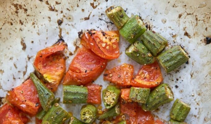 Roasted Okra & Tomatoes