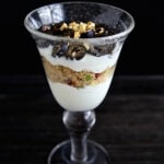 Savory Mediterranean Yogurt Parfait - A unique twist on a yogurt parfait, perfect for an easy lunch. Olives, cucumber, parsley, sun dried tomatoes and garlic bring together the flavors of the Mediterranean in this healthy and delicious dish. #MakeHealthyEasy via @JBraddockRD http://JennaBraddock.com