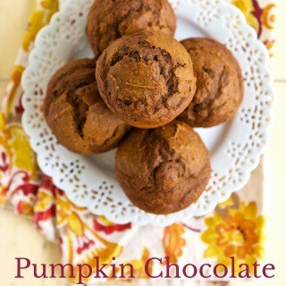 No one should choose between healthy, pumpkin and chocolate. Have it all with these Healthy Pumpkin Chocolate Muffins. #MakeHealthyEasy via @JBraddockRD https://jennabraddock.com