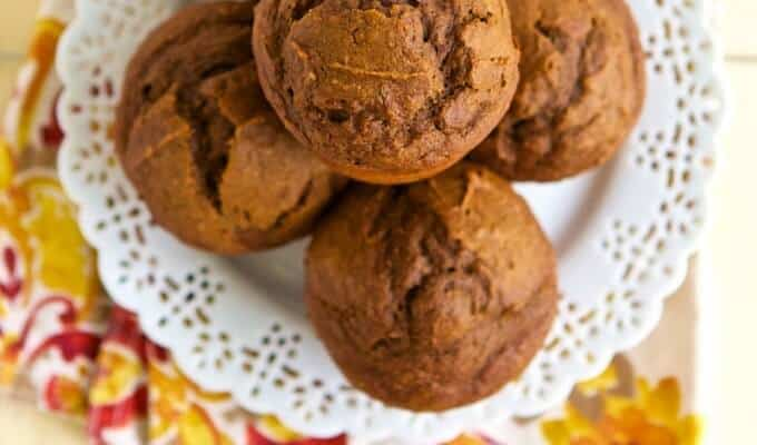 Healthy Pumpkin Chocolate Muffins