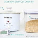 Overnight Crockpot Steel Cut Oatmeal