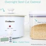 Overnight Crockpot Steel Cut Oatmeal