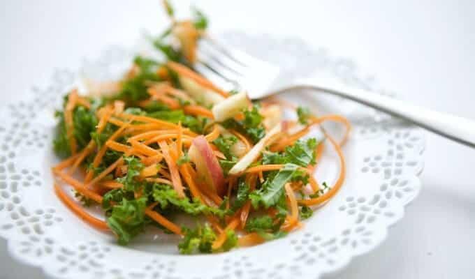 Kale Apple Carrot Salad