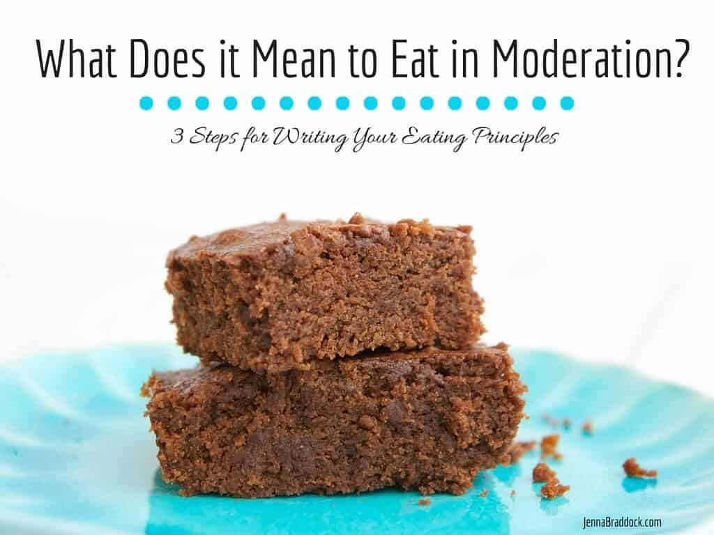 What does it mean to eat in moderation?