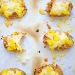 Mango Cheddar Pork Crostini