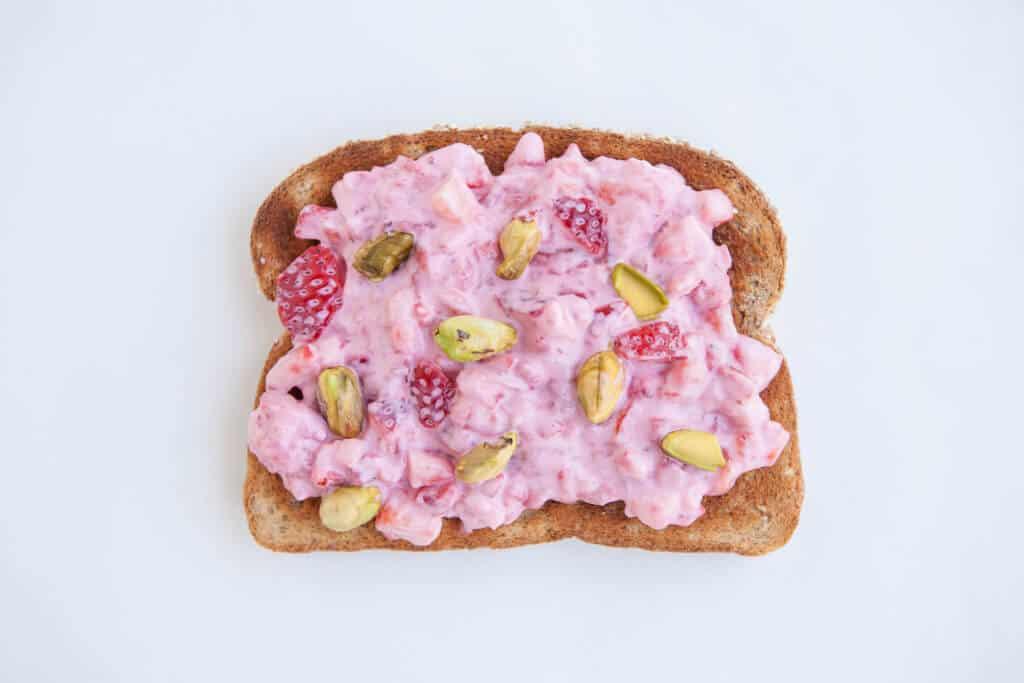 Strawberry toast 4 ways