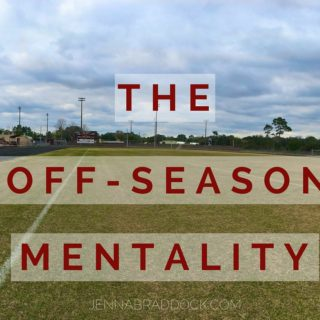 The football off-season is certainly more relaxed. But most people don't realize how important it is to the success a team experiences during the season. The off-season mentality is an attitude that every person can adopt on their healthy living journey. Find out what I mean in this post on The Off-Season Mentality.