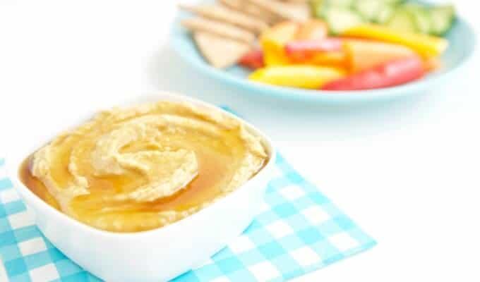 Honey Drizzled Roasted Garlic Hummus