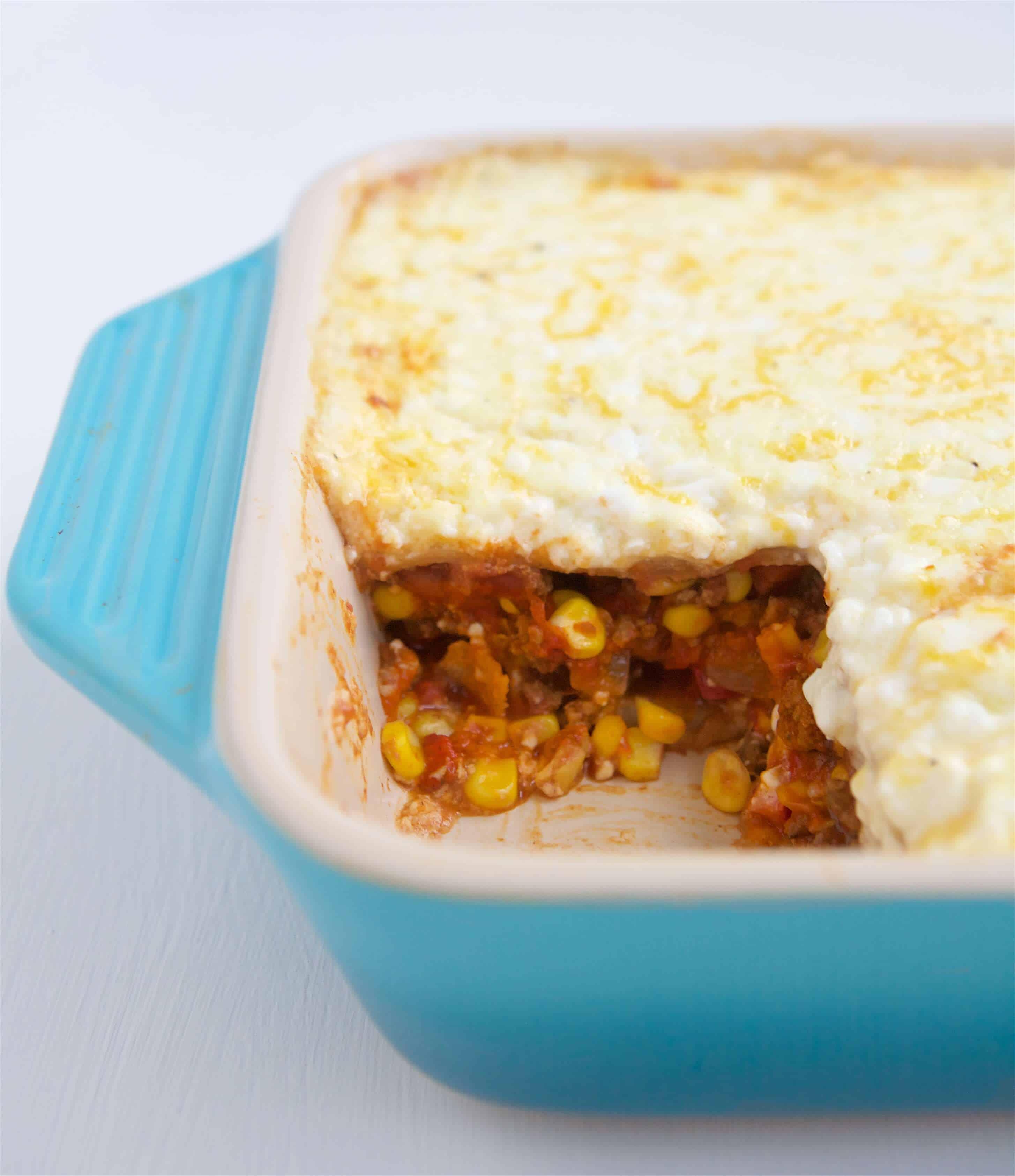 Mexican Lasagna Recipe: Healthy Mexican Lasagna Slice