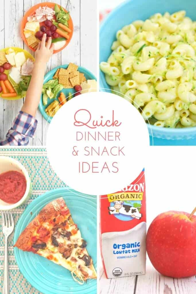 Get back in to the swing of the school year with these quick dinner ideas and snack suggestions for busy families.