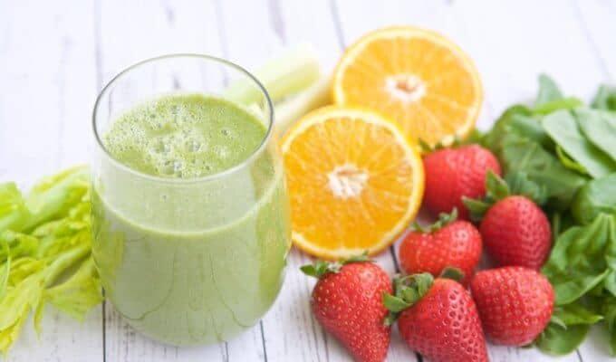 Strawberry Orange Green Smoothie Recipe