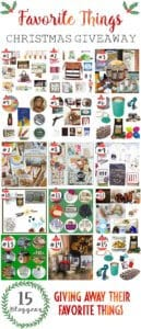 15 bloggers are giving away their favorite things. Enter to win these amazing gifts perfect for giving away or keeping to enjoy yourself.