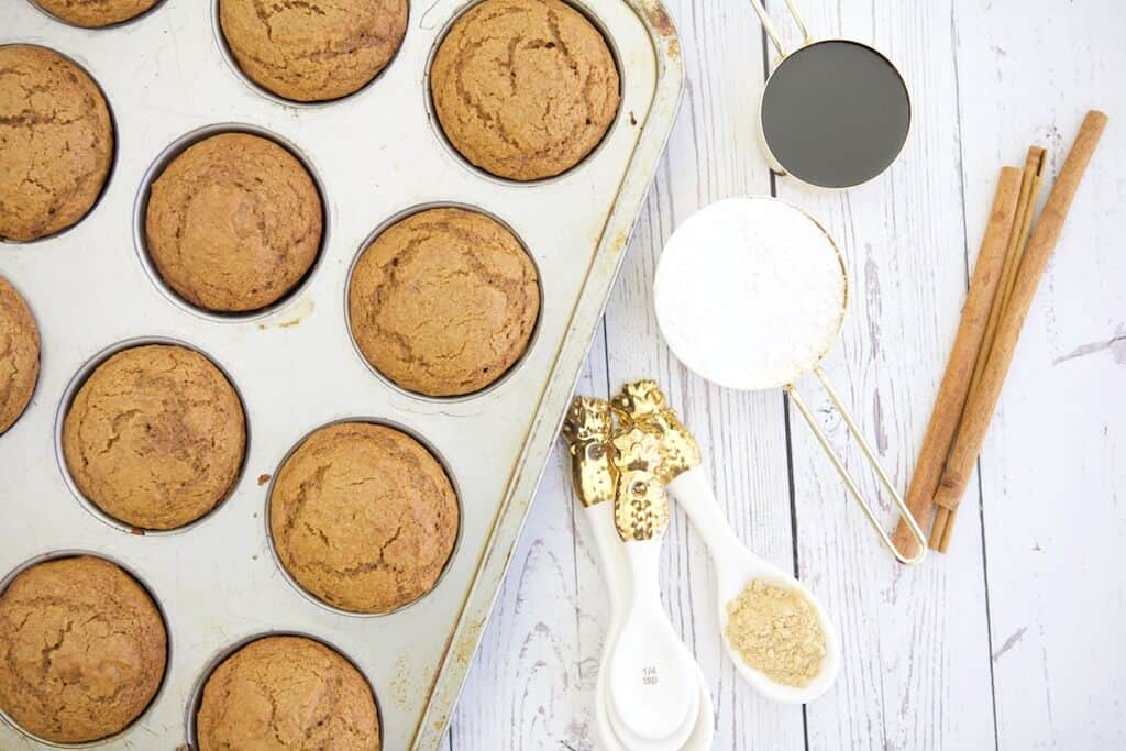 If you love gingerbread and want a lighter, healthier gingerbread recipe to enjoy it all year round, try these fluffy Whole Wheat Gingerbread Muffins.