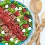 Roasted Balsamic Strawberry & Peppered Steak Salad