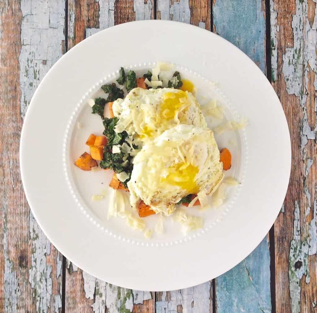 Egg Sweet Potato Stack