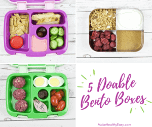5 Doable Bento Box Lunches featuring frozen raspberries.
