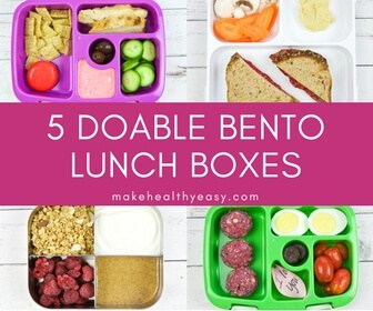 5 Doable Bento Box Lunches