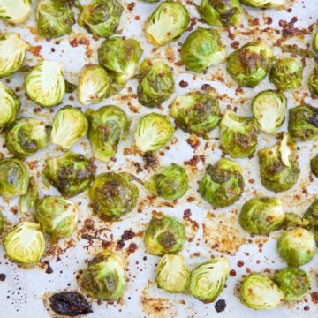 This flavorful Honey Mustard Brussel Sprouts recipe is an easy side dish that just may have you asking for more.