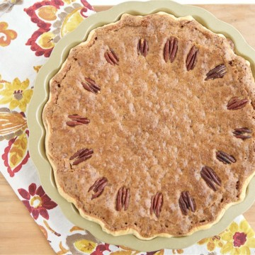 The holidays deserve a little something special, don't you think? This Chocolate Chip Pecan Pie is something special and also corn syrup free.