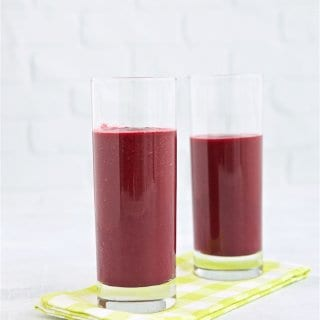 Start your day with this delicious and healthy mango beet breakfast smoothie. If you don't think beets (like me) this smoothie just might change your mind.