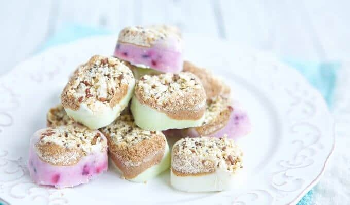 Crunchy Frozen Yogurt Snack Bites